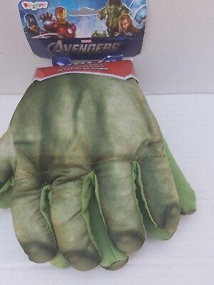 The Hulk Gloves (Marvel Hulk 2012 Soft Green Gloves Hands Accessories Costume Toy Kids NEW)