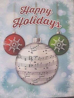 MUSIC THEMED HOLIDAY CHRISTMAS CARDS 8CT BLANK ()
