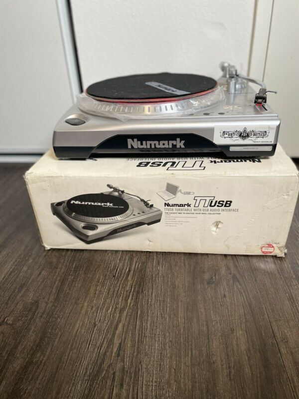 Numark TT USB DJ record turntable convert vinyl to MP3 VG condition unused NEW