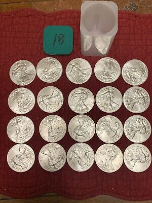 One roll 2018.999 pure silver Eagles 20 Coins