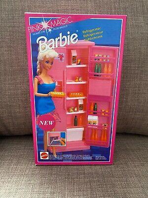 Barbie Furniture Fridge - Pink Magic Refrigerator - Vintage Mattel 1992