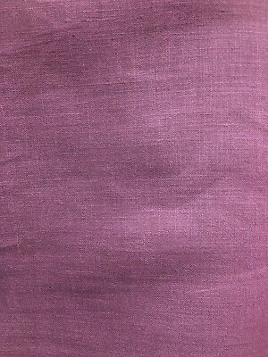 Plum Purple 100  Linen Fabric  58 In   Sold By The Yard