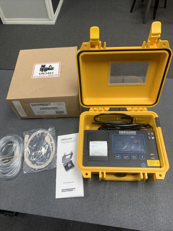 OmniGuard 5 Differential Pressure Recorder Cellular Modem Manometer Touch Screen