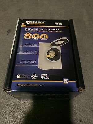 Reliance Controls 30 Amps 125250 Volts Surface Power Inlet Box