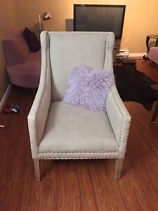 Large accent chair.