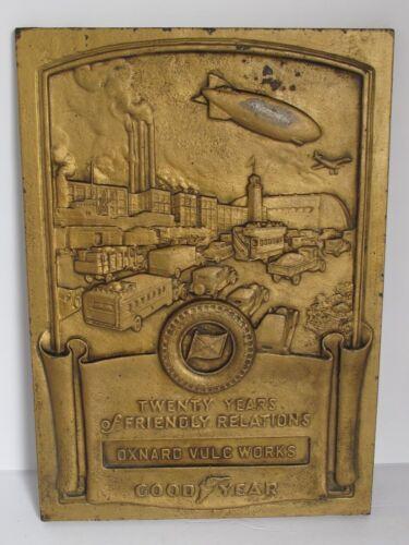 Antique Iron Plaque 1940