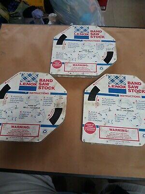 Lenox Usa Band Saw Blade 100 Feet Coil 14 X .025 24 C W 6.4mm. 3 Total