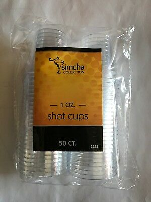 Plastic Disposable Shot Glasses- 1 oz- 50 count (party,wine,liquor,bar)