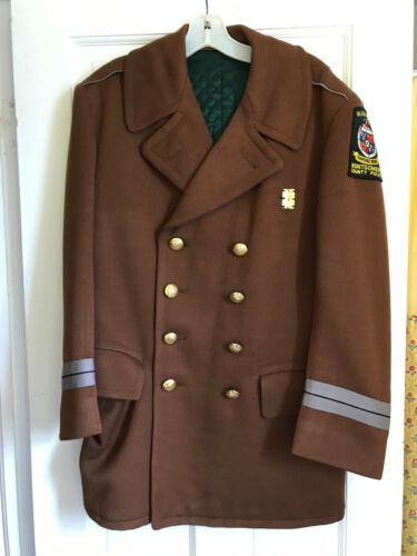 Vintage Montgomery County Police Department Maryland Police Coat Wool w/Patch