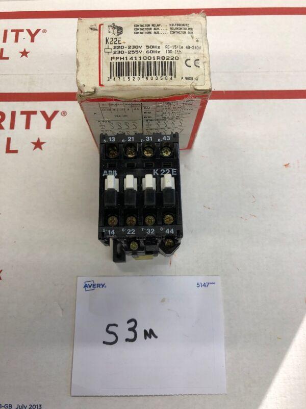 ABB CONTROL K22E CONTACTOR RELAY COIL: 220-230V 50HZ, 230-255V 60HZ    NEW