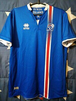 SIZE M Iceland 2016-2017 Home Football Shirt Jersey Errea image