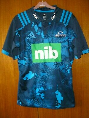 Blues New Zealand Rugby Union Football Jersey Shirt 2016 adidas size M 38/40