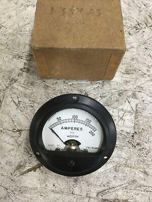 Weston 201 Amperes Meter Square Dc 0-200