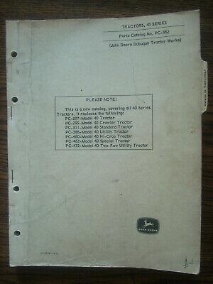 Jd John Deere 40 Series Parts Manual