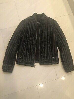 Armani Exchange Faux Leather Biker Jacket Large