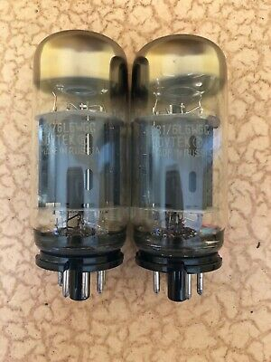 Pair of Sovtek 5881 / 6L6WGC Power Vacuum Tubes For Use With Fender Guitar Amps