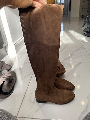 brown suede knee high boots 6