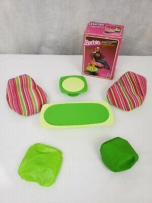 VTG Barbie Dream House Furniture Chairs Tables Bean Bag Living Room Green Multi
