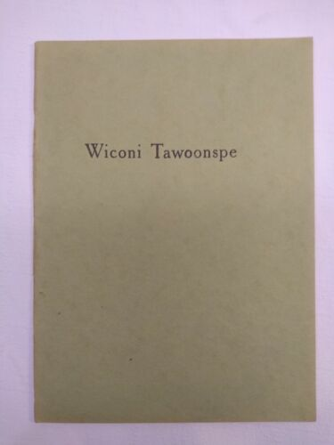 Alfred L. Riggs Dakota Language Missionary Pamphlet- Wiconi Tawoonspe