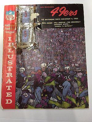 1962 Nfl Program San Francisco 49Ers Vs Baltimore Colts Kezar Stadium   Tix 11 4