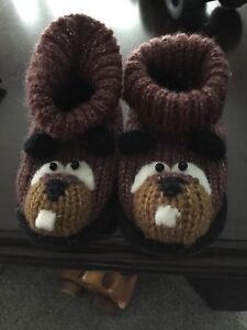 KnitWits 12-24 Month Slippers