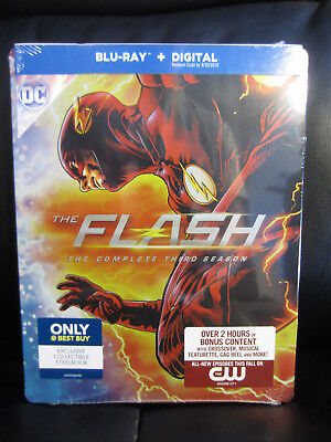 The Flash Season 3 Blu Ray Digital Hd Steelbook Best Buy Sealed New Region Free