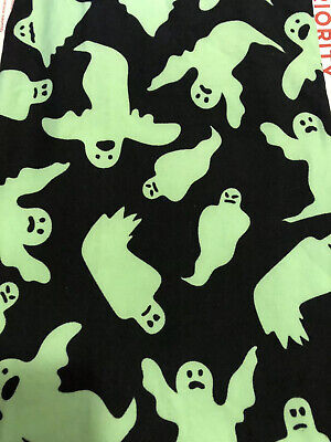 👻 Lularoe TC Halloween Leggings Black With Green Ghosts HTF NWT 🎃