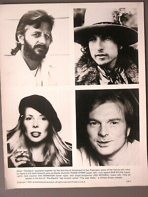 Bob Dylan promo photo 8X10 b/w glossy ORIGINAL Ringo, Joni Mitchell Last Waltz!