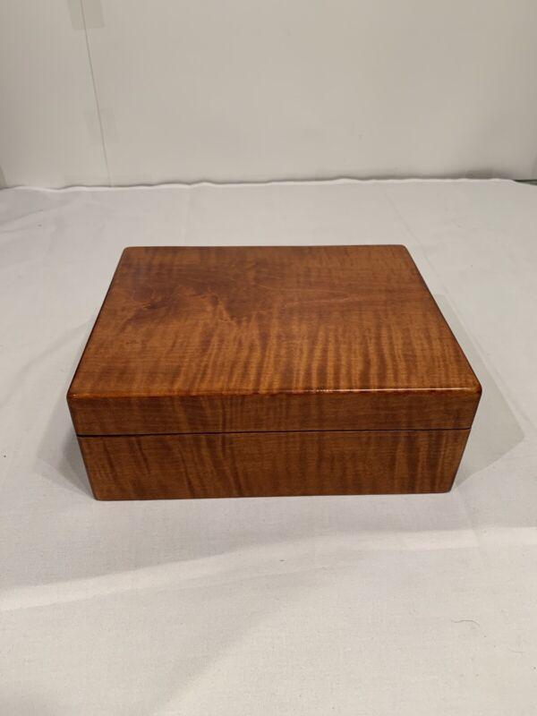 Vintage Michael Dixon Cigar Humidor Wooden Box F5