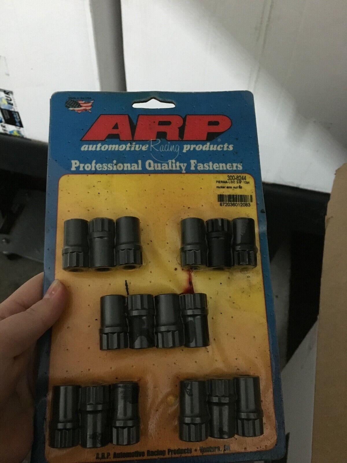 New Unused ARP 300-8244, ARP Perma-Loc Rocker Arm Nuts (set of 16, 3/8 in.)