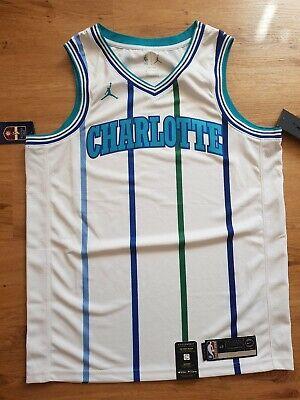 Nike Jordan Charlotte Hornets Blank NBA Swingman Jersey In Size L (48)