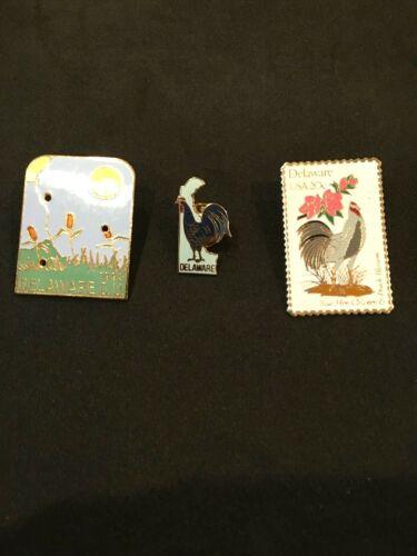 Delaware Pins Lot Of (3)