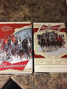 Budweiser collectable steins