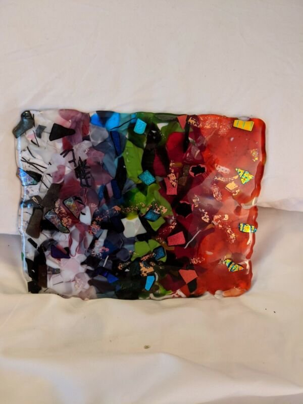 Handcrafted Fused Glass Sculpture OOAK