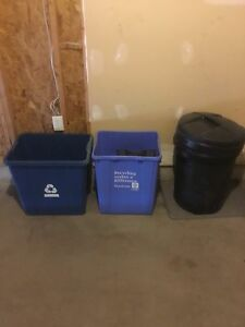 Recycling Bins and Garbage Bin