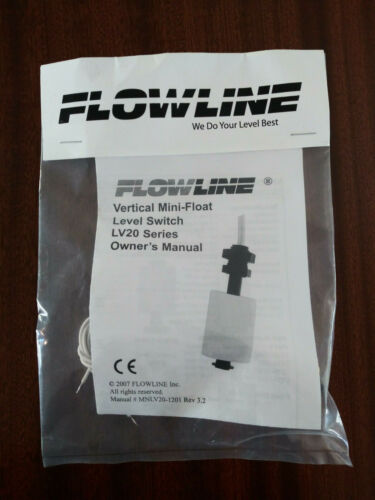 FLOWLINE LV20-1201 / LV201201 Vertical Mini-Float Level Switch