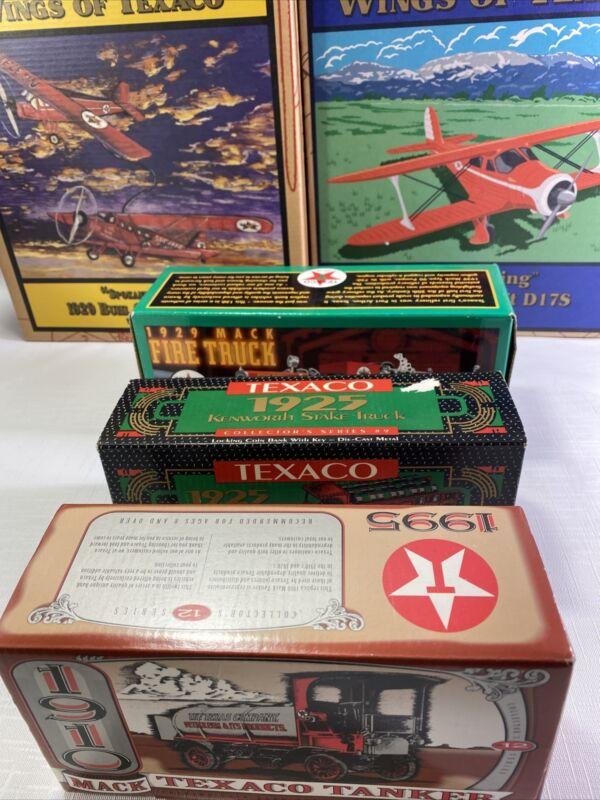 Wings Of Texaco Staggerwing 1939  D17S Replica/Texaco Tankers,Fire Truck