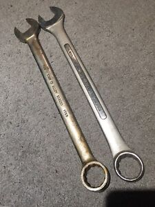 Used Gray Westward Open Box End Wrench Chrome 1 1/4 Inch