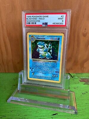 1999 Pokemon Card Blastoise Base Set holo Shadowless PSA 9 MINT Rare #2