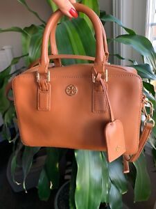 Tory Burch camel bowling bag in mint condition