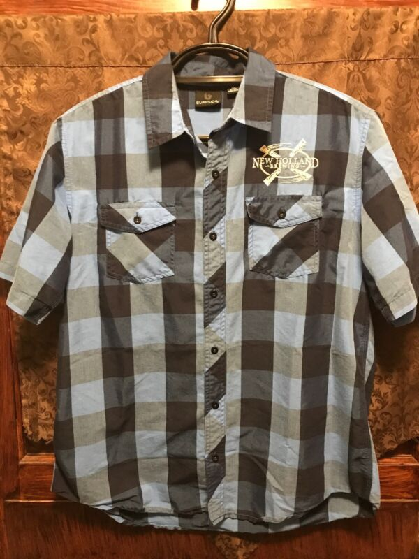 NEW HOLLAND BREWING BURNSIDE Mens XL Beer Delivery Work Shirt Dragon