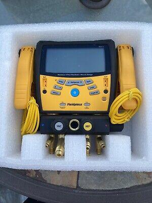 Fieldpiece Sman460 Wireless 4 Port Manifold And Micron Gauge 38 Full Bore