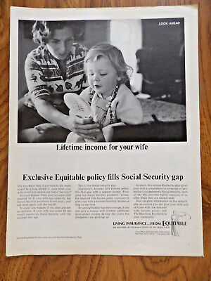 1965 Equitable Life Insurance Ad Lifetime Income For Your Wife