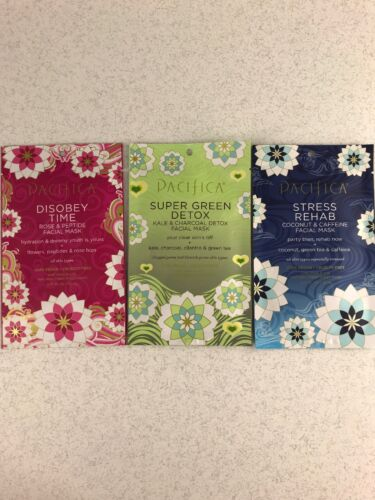 Pacifica Sheet Mask Lot Disobey Time Stress Rehab Super Gree