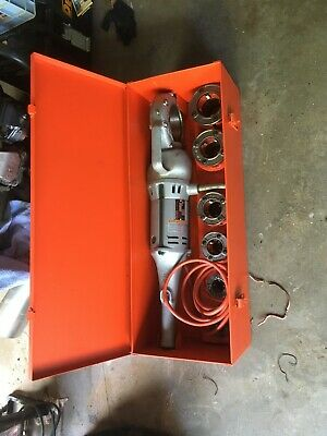 Ridgid 700 Power Pony Pipe Threader Six 12r Die Heads 12-2 Metal Case