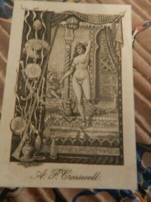 Arabian Ex-Libris Nude Lady Figure Sticker
