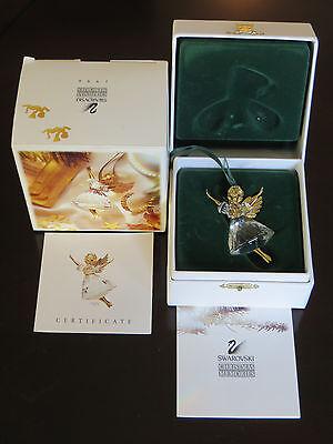 SWAROVSKI CRYSTAL MEMORIES ANGEL ORNAMENT 1996 in BOX with BOOKLET & CERTIFICATE