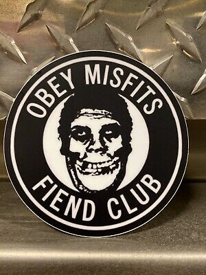 """MISFITS X OBEY Sticker 3X4/"""" GHOULS NIGHT from poster print shepard fairey"""