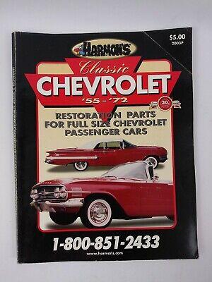 Harmon's Classic Chevrolet '55-'72 Restoration Parts Catalog Cars 2003P Edition 55 Chevy Restoration Parts
