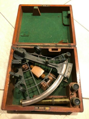 Antique Maritime Nautical Ship Sextant Whyte Thompson Glascow Late 1800s Rare!!